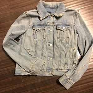 Gap Vintage Distressed Denim Jacket